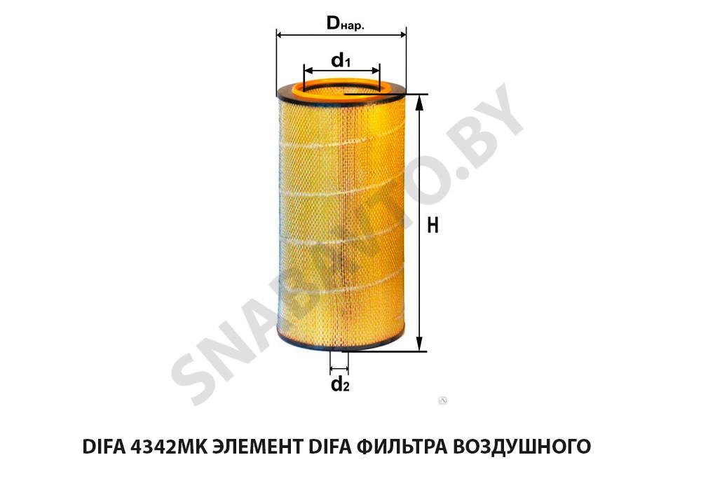 Элемент DIFA фильтра воздушного (ан.8421-1109080-03)